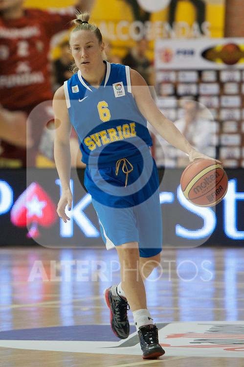 Sweden team´s Frida Eldebrink during Euro Basket Women Spain vs Sweden