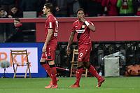 Football : Germany -1. Bundesliga  2017/18 <br /> Bayer Leverkusen 04 vs Mainz <br /> 28/01/2018 - Leon Bailey ( Bayer 04 Leverkusen) scores *** Local Caption *** © pixathlon<br /> Contact: +49-40-22 63 02 60 , info@pixathlon.de
