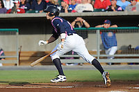 Tennessee Smokies Third Baseman Josh Vitters #6 swings at a pitch during a game against the Chattanooga Lookouts at Smokies Park on June 18, 2011 in Kodak, Tennessee.  Chattanooga defeated Tennessee 5-3.  (Tony Farlow/Four Seam Images)