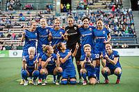 Seattle, WA - Sunday, September 11 2016: Seattle Reign FC starting IX.
