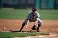 Detroit Tigers first baseman Kerry Carpenter (67) during practice before a Florida Instructional League intrasquad game on October 17, 2020 at Joker Marchant Stadium in Lakeland, Florida.  (Mike Janes/Four Seam Images)