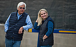 LOUISVILLE, KY - MAY 03: Bob and Jill Baffert watch horses get baths after morning workouts at Churchill Downs on May 3, 2018 in Louisville, Kentucky. (Photo by Scott Serio/Eclipse Sportswire/Getty Images)