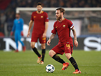 Football Soccer: UEFA Champions League AS Roma vs Qarabag FK Stadio Olimpico Rome, Italy, December 5, 2017. <br /> Roma's captain Daniele De Rossi in action during the Uefa Champions League football soccer match between AS Roma and Qarabag FK at at Rome's Olympic stadium, December 05, 2017.<br /> UPDATE IMAGES PRESS/Isabella Bonotto