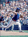 Chicago Cubs Dennis Eckersley (43) in action during a game from the 1986 season against the New York Mets at Shea Stadium in Flushing Meadows, New York. Dennis Eckersley was inducted to the Baseball  Hall of Fame in 2004.