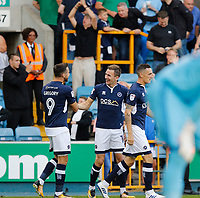 GOAL - Millwall's Jed Wallace celebrates his goal during the Sky Bet Championship match between Millwall and Ipswich Town at The Den, London, England on 15 August 2017. Photo by Carlton Myrie.