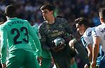 Real Madrid's Thibaut Courtois during La Liga match. December 7,2019. (ALTERPHOTOS/Acero)