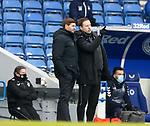 13.02.2021 Rangers v Kilmarnock: Steven Gerrard and Michael Beale