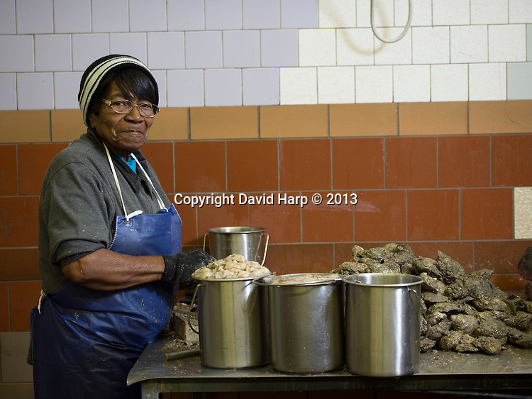 """Clara Tilghman is still shucking oysters at Kool Ice Seafood at the age of 88. """"People say I'v got hands like a man,"""" she says.   """"Its because I've done a man's work all my life."""""""
