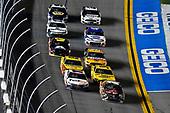 #11: Denny Hamlin, Joe Gibbs Racing, Toyota Camry FedEx Express and #18: Kyle Busch, Joe Gibbs Racing, Toyota Camry M&M's Chocolate Bar