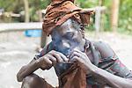 Batwa Pygmy Smoking