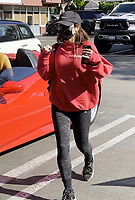 WEST HOLLYWOOD, CA - FEBRUARY 18: Vanessa Hudgens seen arriving at Earthbar in her Ferrari in West Hollywood, California on February 18, 2020. Credit: mpi999/MediaPunch