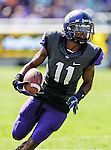TCU Horned Frogs wide receiver Skye Dawson (11) in action during the game between the Virginia Cavaliers and the TCU Horned Frogs  at the Amon G. Carter Stadium in Fort Worth, Texas. TCU defeats Virginia 27 to 7...