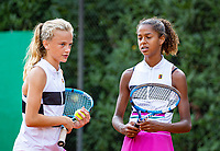Hilversum, Netherlands, Juli 31, 2019, Tulip Tennis center, National Junior Tennis Championships 12 and 14 years, NJK, Girls Doubles:`Jayden Lonwijk (R) and Evi Roobol (NED)<br /> Photo: Tennisimages/Henk Koster