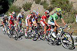 (R to L) Alejandro Valverde, Joaquin Purito Rodriguez, Daniel Moreno, Juan Manuel Garate and Alberto Contador during the stage of La Vuelta 2012 between Gijon and Valgrande-Pajares (Cuitu Negru).September 3,2012. (ALTERPHOTOS/Paola Otero)