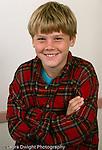 10 year old boy portrait closeup