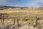 corral, the old west, U.S.A., America, Nevada, Reese River Valley, Lander County, Highway 305 South, Abandoned ranch, Western high desert,