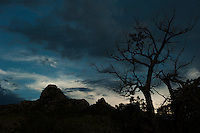 Dusk over the Chiricahua Mountains in Arizona.