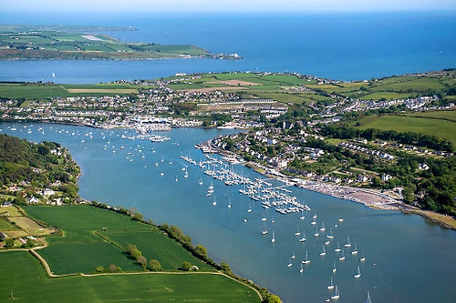 The Royal Cork YC and the marinas of Crosshaven. The welcoming home of successful race boats nowadays would probably be best done at the entrance to Cork Harbour. Photo: Robert Bateman