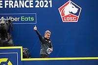 Joie des joueurs du LOSC brandissant le trophee Hexagoal du vainqueur du championnat de France de Ligue 1 saison 2020 / 2021<br /> Christophe Galtier - entraineur (Losc) <br /> 24/05/2021<br /> Celebration of LOSC Lille champions of France <br /> Calcio Ligue 1 2020/2021<br /> Foto JB Autissier/Panoramic/insidefoto <br /> ITALY ONLY