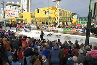 Tyrell Seavey Leaves Start Line Ceremonial Start Iditarod 2005 Anchorage AK