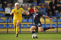 USA's Casey Nogeira in a game vs Sweden in 2010 Algarve Cup game in Ferreiras, Portugal during the 2010 Algarve Cup.