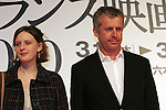 March 18, 2010 - Tokyo, Japan - French film directors, Bruno Dumont (R) and Mia Hansen-Love (L) attend the French Film Festival 2010 press conference at Roppongi Hills on March 18, 2010 in Tokyo, Japan. (Laurent Benchana/Nippon News)