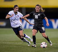 Yael Averbuch, Annalie Longo. The USWNT tied New Zealand, 1-1, at an international friendly at Crew Stadium in Columbus, OH.