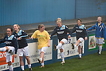Leeds United Ladies 1 Nottingham Forest Ladies 1, 13/11/2011. Throstle Nest, FA Premier League National Division. Leeds United Ladies FC players pictured during a pre-match warm-up routine at the Throstle Nest, Farsley, West Yorkshire, on the day the club played host to Nottingham Forest Ladies FC in an FA Premier League National Division fixture. The match ended in a one-all draw, watched by fewer than 50 spectators at the club's regular home ground. Formed in 1989, Leeds United Ladies has been one of England's top women's sides for most of the last ten years and played in the top winter league for ladies' teams. Photo by Colin McPherson.
