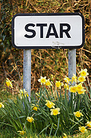 2020 04 08 The sign at the village of Star in Pembrokeshire, Wales, UK