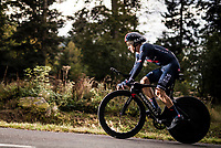 Michal Kwiatkowski (POL/Ineos Grenadiers) on the steep parts of the individual time trial up the infamous Planche des Belles Filles<br /> <br /> Stage 20 (ITT) from Lure to La Planche des Belles Filles (36.2km)<br /> <br /> 107th Tour de France 2020 (2.UWT)<br /> (the 'postponed edition' held in september)<br /> <br /> ©kramon
