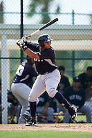 GCL Yankees 2 third baseman Dermis Garcia (93) at bat during the first game of a doubleheader against the GCL Pirates on July 31, 2015 at the Pirate City in Bradenton, Florida.  GCL Pirates defeated the GCL Yankees 2 2-1.  (Mike Janes/Four Seam Images)