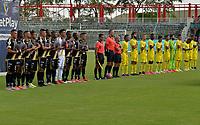 VILLAVICENCIO - COLOMBIA, 04-10-2021: Llaneros F. C. y Itagüi Leones F.C. durante partido de la fecha 11 por el Torneo BetPlay DIMAYOR II 2021 en el estadio Bello Horizonte en la ciudad de Villavicencio. / Llaneros F. C. and Itagüi Leones F.C.  during a match of the 11th date for the BetPlay DIMAYOR II 2021 Tournament at the Bello Horizonte stadium in Villavicencio city. / Photo: VizzorImage / Juan Herrera / Cont.