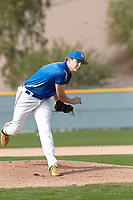Roman Angelo (16) of Bakersfield Christian High School in Bakersfield, California during the Under Armour All-American Pre-Season Tournament presented by Baseball Factory on January 14, 2017 at Sloan Park in Mesa, Arizona.  (Kevin C. Cox/MJP/Four Seam Images)