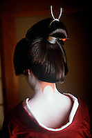 Japan<br /> Japan evokes such artistic imagery in everything from their food, their dress and even the landscape. In springtime the cherry blossoms simply explode. While in Kyoto I was invited to enter the mysterious world of the Geisha artisans and access some private time with the girls as they prepared for their evening. Despite their ephemeral beauty these girls train hard for twenty-four hours a day, seven days a week for about five years studying the formal arts such as dance, music, poetry. Sanbon Ashi is a special design of unpainted skin on the back of the neck for in traditional Japanese aesthetics the most alluring part of a woman is the nape of her neck. This from a culture that always seems to find beauty in the most unexpected of places.