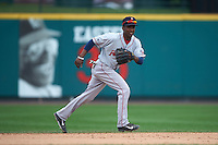 Pawtucket Red Sox shortstop Jemile Weeks (2) during a game against the Rochester Red Wings on July 1, 2015 at Frontier Field in Rochester, New York.  Rochester defeated Pawtucket 8-4.  (Mike Janes/Four Seam Images)