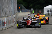 Robert Wickens, Schmidt Peterson Motorsports Honda, Ryan Hunter-Reay, Andretti Autosport Honda
