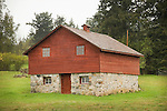 Orcus Island. Small barn with stone foundation