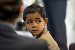 Cristiano Ronaldo JR. during the tribute to Cristiano Ronaldo by Real Madrid CF on the occasion of his new record by being the top scorer in the club's history at Santiago Bernabeu Stadium in Madrid, October 02, 2015.<br /> (ALTERPHOTOS/BorjaB.Hojas)