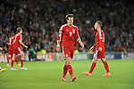 UEFA European Championship at Cardiff City Stadium - Wales v Cyprus : <br /> Gareth Bale of Wales pulls a face in the second half.