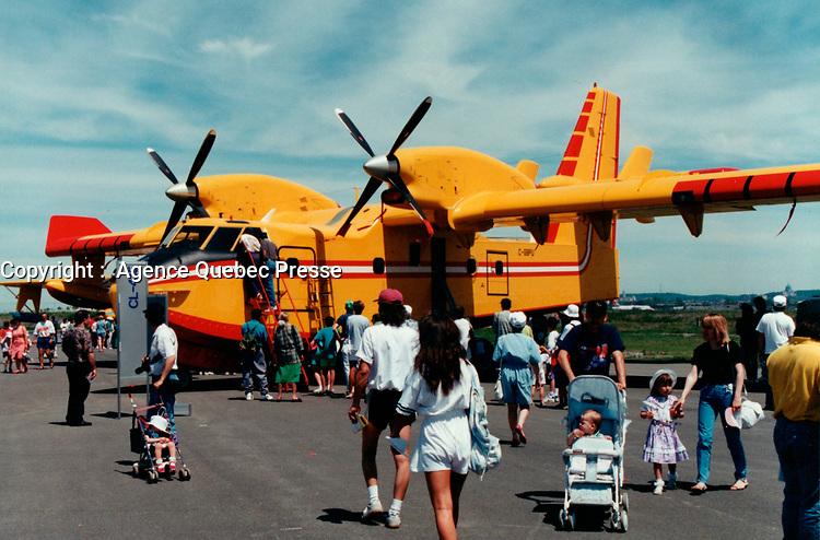 Demonstration de avion citerne Canadair CL-415<br /> <br /> PHOTO : Agence Quebec Presse