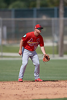 St. Louis Cardinals second baseman Nick Dunn (36) during a Minor League Spring Training Intrasquad game on March 28, 2019 at the Roger Dean Stadium Complex in Jupiter, Florida.  (Mike Janes/Four Seam Images)