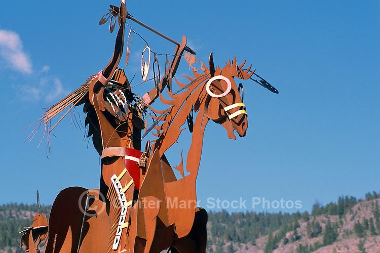 The Chief Sculpture at Nk'Mip Desert Cultural Centre, Osoyoos, South Okanagan Valley Region, British Columbia, Canada