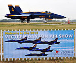 Blue Angels arrive at Dayton International Airport for the 2012 Vectren Dayton Air Show.