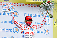 8th July 2021; Nimes, France; QUINTANA Nairo (COL) of TEAM ARKEA - SAMSIC pictured with the polka dot jersey during the podium ceremony during stage 12 of the 108th edition of the 2021 Tour de France cycling race, a stage of 159,4 kms between Saint-Paul-Trois-Chateaux and Nimes.