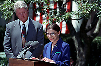 Announcement of Ruth Bader Ginsburg as Nominee for Associate Supreme Court Justice at the White House , June 14, 1993