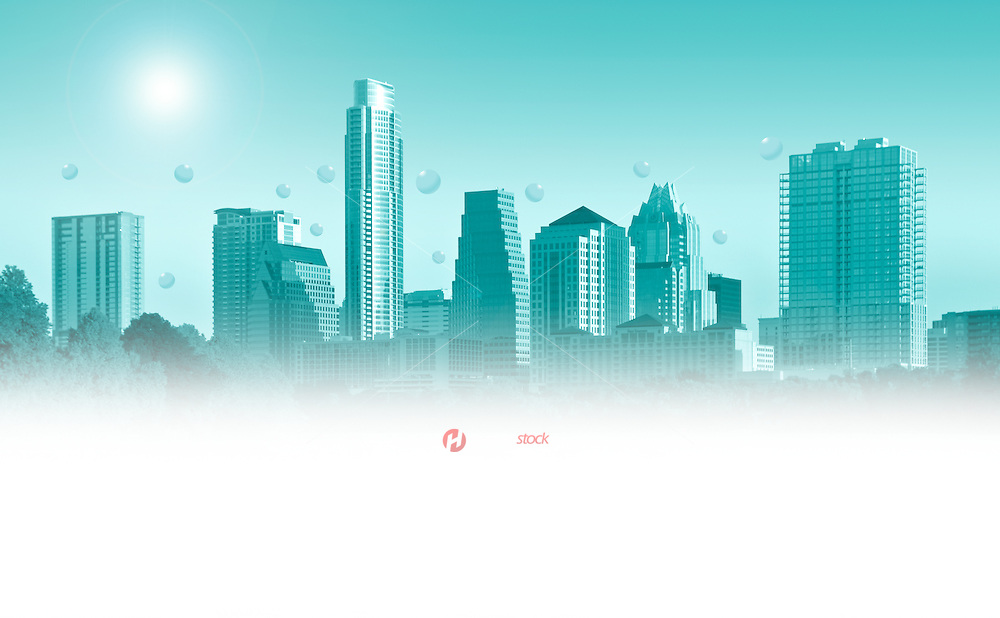 Austin skyline faded out for ad copy
