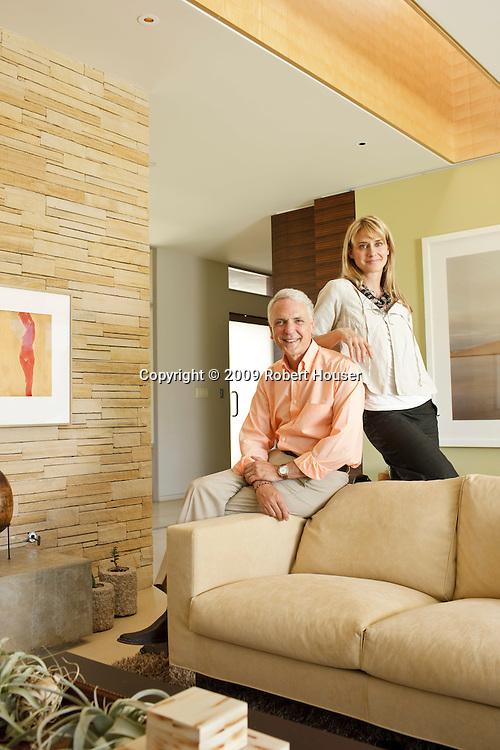 Tim Koogle, former Yahoo CEO, and his wife Pam Scott - portrait, editorial, magazine