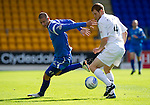 St Johnstone v Motherwell...11.09.10  .Marcus Haber and Mark Reynolds.Picture by Graeme Hart..Copyright Perthshire Picture Agency.Tel: 01738 623350  Mobile: 07990 594431