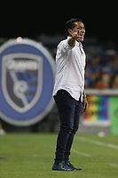 SAN JOSE, CA - AUGUST 24: San Jose Earthquakes coach Benjamin Galindo during a Major League Soccer (MLS) match between the San Jose Earthquakes and the Vancouver Whitecaps FC  on August 24, 2019 at Avaya Stadium in San Jose, California.