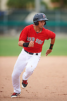 GCL Red Sox third baseman Stanley Espinal (15) running the bases during the second game of a doubleheader against the GCL Rays on August 9, 2016 at JetBlue Park in Fort Myers, Florida.  GCL Rays defeated GCL Red Sox 9-1.  (Mike Janes/Four Seam Images)